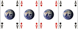 four aces (earth provided by http://visibleearth.nasa.gov) poster
