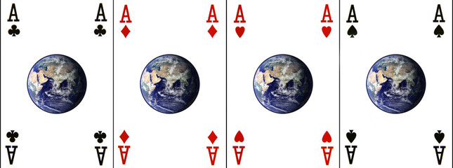 four aces (earth provided by http://visibleearth.nasa.gov)