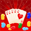 Vector illustration of casino elements: chips and cards