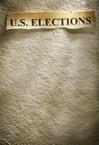 headline U.S. ELECTIONS poster