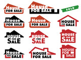 Simple signs for selling house poster