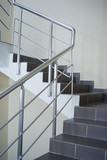 enclosure with metallic stair railing poster