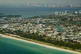 Aerial view of Miami beach