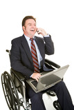 Disabled Businessman - Pleasant Chat poster