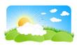 Sunny nature design element