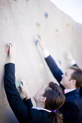 Businesspeople Climb