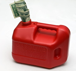 Money in gas can