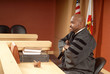 Judge presiding over trial