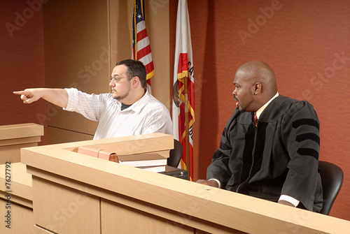 Leinwandbild Motiv Witness at trial