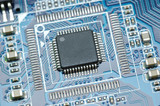 Micro chip closeup poster