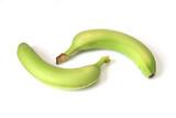 Two unripe bananas poster