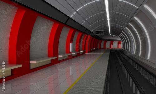Leinwanddruck Bild Underground rail