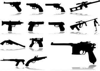Set buttons. Guns