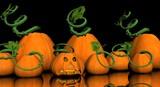 pumpkin patch with jackolanturn poster