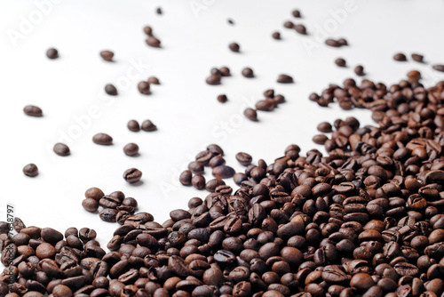 Fresh coffee beans spread