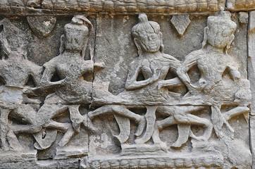 Cambodia; Angkor; Ta Prohm  temple: Apsaras