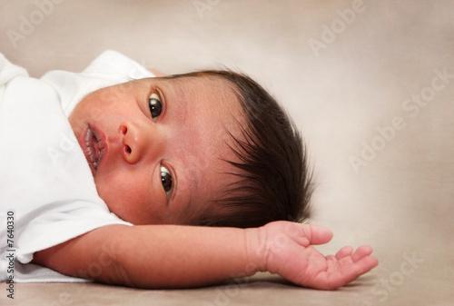 Multiracial Newborn Baby