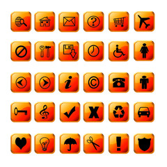 web icons dark orange