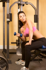 Dumbbell weightlifting exercises