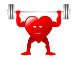 Healthy Heart weightlifter poster