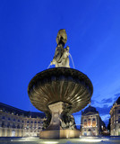 place de la bourse by night in bordeaux ,FRANCE poster
