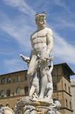 Firenze, fontana del Nettuno poster