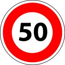 A0174 - maksymalna prędkość panel 50 kilometrów na godzinę