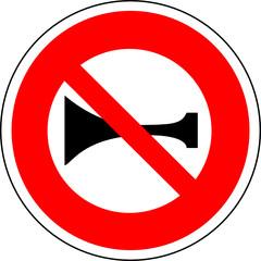 a0160 - Panneau interdiction de KLAXONNER