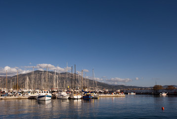 The marina in Kalamata