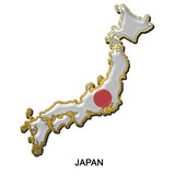 Japan metal pin badge poster