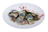 Herring with greenery poster