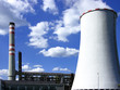 Coal power-plant with cooling-tower
