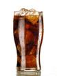 canvas print picture - bicchiere di coca con ghiaccio