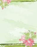 Fototapety bouquet of hibiscus on beige background