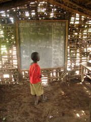 Masai child at school