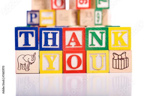 """Thank You"" Blocks"