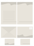 Vector - Paper stationery series for office use poster