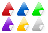 color triangular stickers 2 poster
