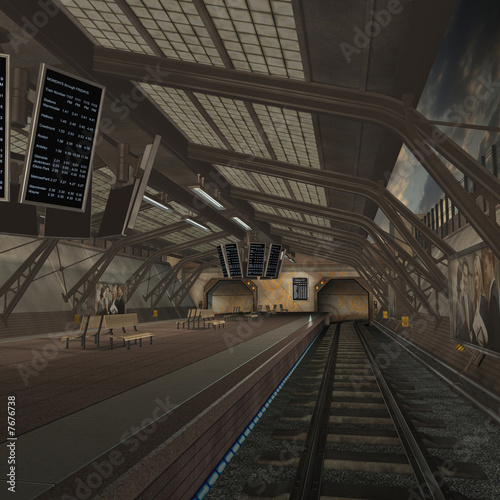 In de dag Tunnel Untergrundbahn
