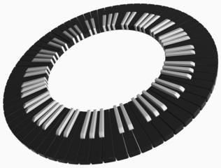 black piano ring