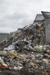 Truck dumping waste at landfill site