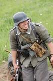 German soldier. WW2 reenacting poster