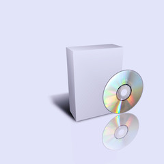 empty cd box isolated in gray background