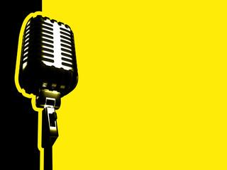 retro microphone © Damian