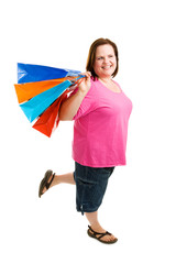 Happy Plus-Sized Shopper