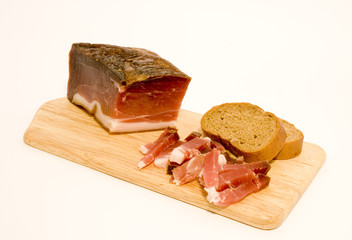 Speck and bread