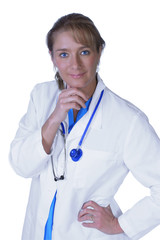 Beautiful and confident female doctor