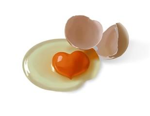 uova a cuore