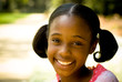 A young African American Girl Smiling