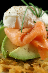 Salmon And Poached Egg Stack